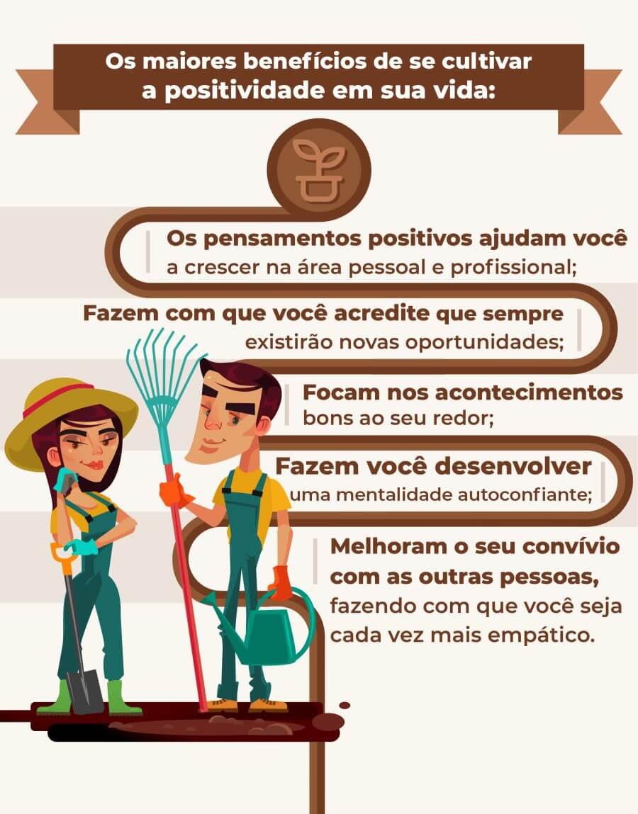 benefícios da positividade - infográfico - Loop de Sucesso