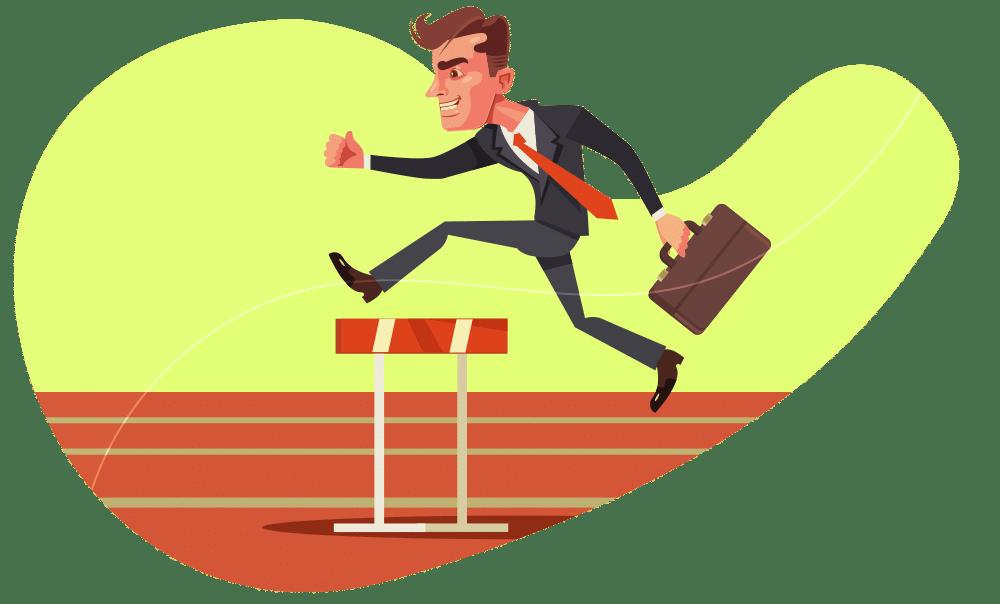 Um empreendedor resiliente ultrapassa obstáculos com menos pressão emocional