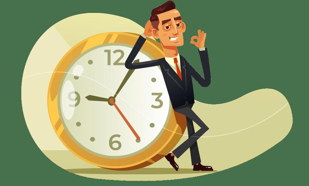 O tempo é valioso para uma pessoa resiliente