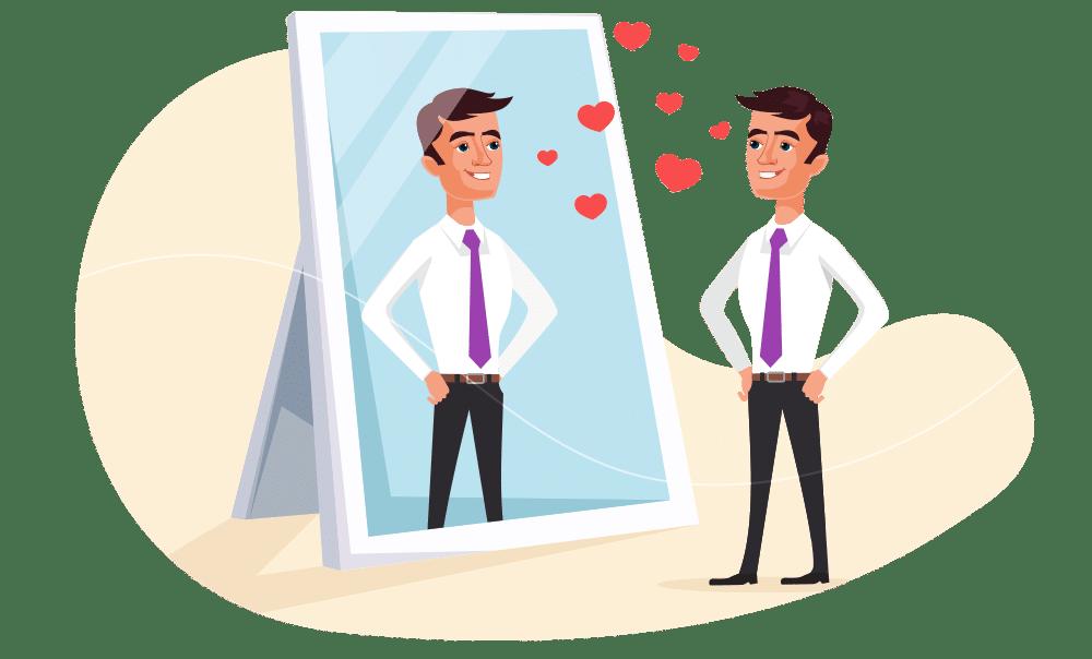 Olhar para si mesmo é uma maneira de encontrar autoconfiança